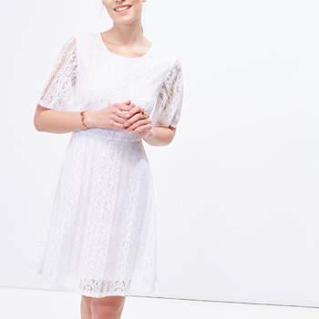 Vestido guipura da Cortefiel (29,99€)