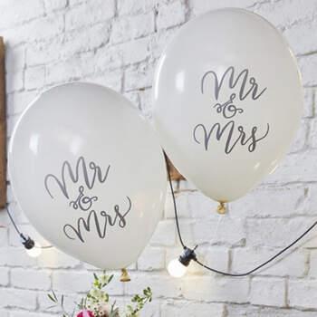 Globos Sr. y Sra. 10 Unidades- Compra en The Wedding Shop