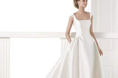 Únete a la última tendencia nupcial: vestidos de novia con bolsillos 2015