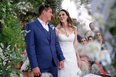 O casamento clássico de Carolina e Rafael: o