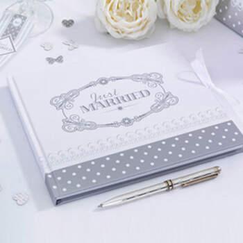 Libro de firmas en plata  - Compra en The Wedding Shop