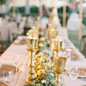 Una boda con efecto gold, ¿te atreves con tanto glamour?