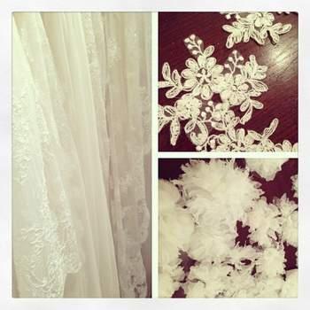 Dettagli tessuti e accessori sposa