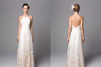 Vestidos de noiva minimalistas 2017: simplicidade é o segredo da elegância!