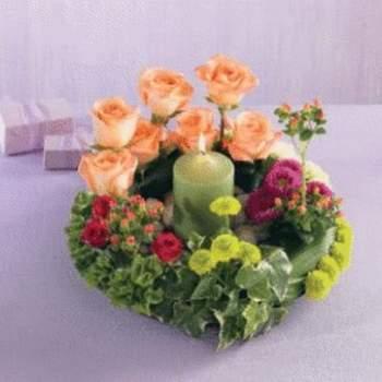 Couronne de table - Crédit photo: Pastel fleury