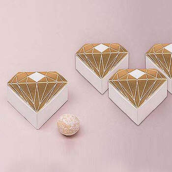 Caja de diamantes de oro de 10 unidades- Compra en The Wedding Shop