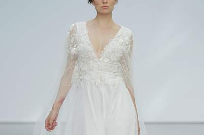Vestidos de novia con escote en V: diseños para resaltar tu lado más atrevido