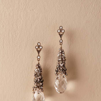 Chiara Crystal Earrings. Credits: Bhldn
