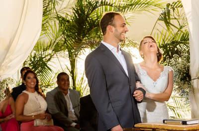 Casamento ao ar livre de Luciana & Bruno: com pôr do sol em lindo cenário na cidade maravilhosa