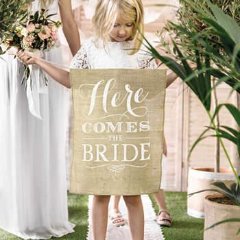 """Guirlanda """"Here Comes The Bride""""- Compra en The Wedding Shop"""