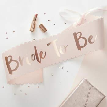 """Banda para novia """"Bride to be""""- Compra en The Wedding Shop"""