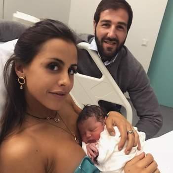 Carolina Patrocínio e Gonçalo Uva foram pais pela terceira vez em março de 2018.  | Foto via Instagram @carolinapatrocinio