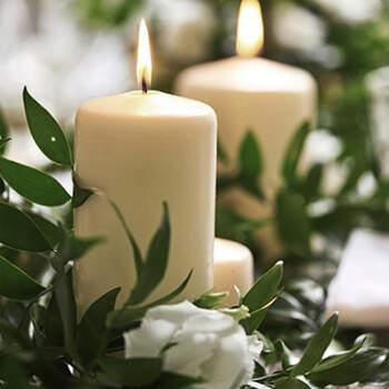 Vela decorativa marfil media 6 unidades- Compra en The Wedding Shop