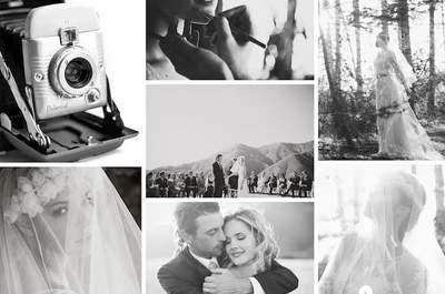 La tendencia Polaroid: un estilo súper cool y vintage para bodas 2015, lo mejor viene en blanco y negro