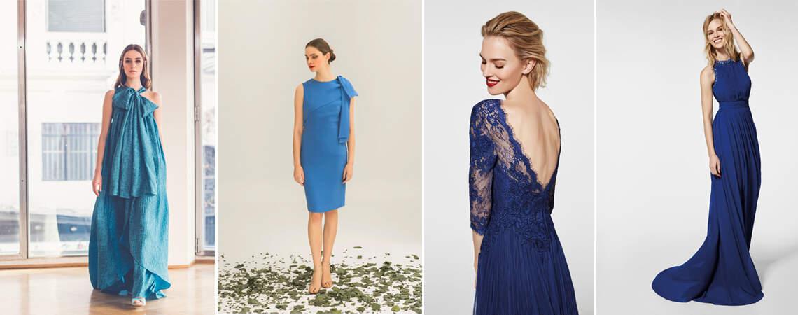 Escolha um vestido de festa azul e prepare-se para arrasar!