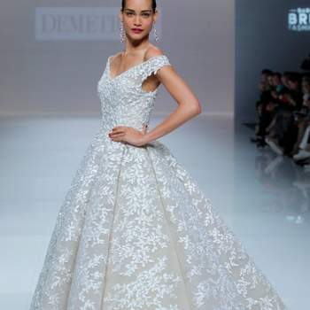 Demetrios 2019. Credits: Barcelona Bridal Fashion Week