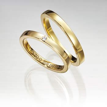 """Puedes combinar el oro amarillo con los diamantes en tu alianza. Foto: <a title=""""Germán Joyero"""" href=""""http://germanjoyero.com/"""" target=""""_blank"""">Germanjoyero.com</a>"""