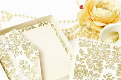 Invitaciones para boda estilo francés