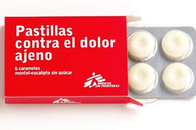 Las pastillas contra el dolor ajeno de Médicos Sin Fronteras son un buen regalo solidario. Foto: Médicos Sin Fronteras