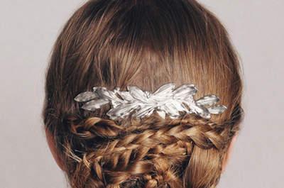 ¡Imponente! Peinado de novia con trenza para este 2016