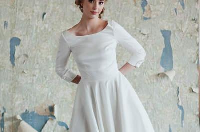Vestidos de novia con largo midi: el glamour de los 50