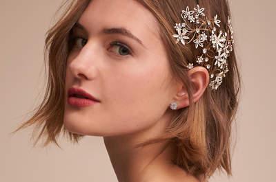 Acessórios de cabelo para noivas: 96 modelos variados para todos os estilos de noivas!