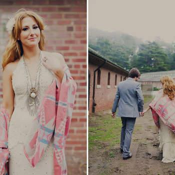 Para todas aquellas amantes del estilo bohemio, les presento algunas ideas para que realicen su boda a la bohemia. Foto de Green Wedding Shoes.