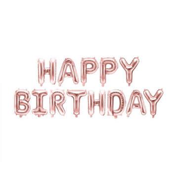 Globo Happy Birthday rosa oro- Compra en The Wedding Shop