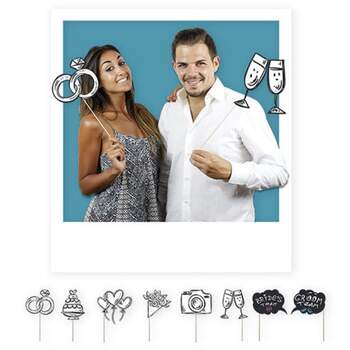 Accessoires Photocall Mariage 8 pièces - The Wedding Shop !