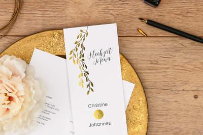 Hochzeitstrend Gold, Silber und Glanz - so wird Ihre Hochzeitspapeterie zum Highlight!
