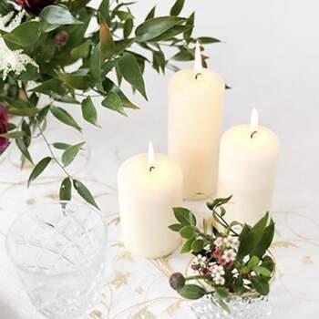 Grande bougie décorative ivoire 6 pièces - The Wedding Shop