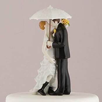 Cake Topper Conjonts Sous La Pluie - The Wedding Shop !