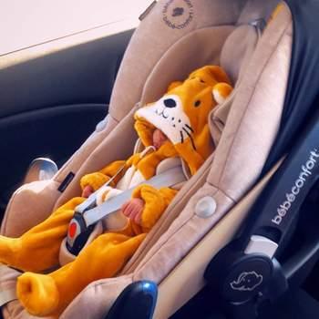 O leãozinho da foto chama-se Lonô e nasceu de parto natural. | Foto via Instagram @hyndia