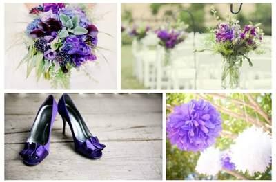 Фиолетовая свадьба: укрась свою свадьбу в фиолетовых цветах