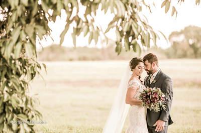 Casamento boho chic de Sara & Victor: uma tarde maravilhosa no sítio para celebrar o amor!