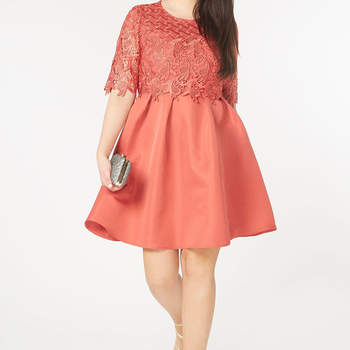 Little Mistress Terracotta Prom Dress. Credits_ Evans