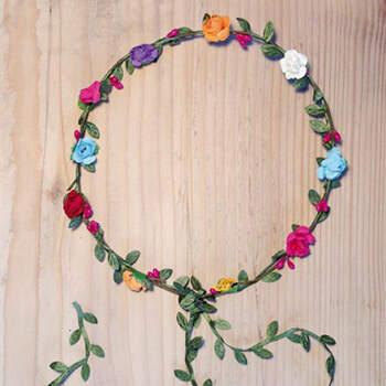 Corona De Flores De Colores- Compra en The Wedding Shop