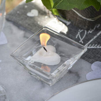 Vela Flotante Corazón Blanco 2 unidades- Compra en The Wedding Shop