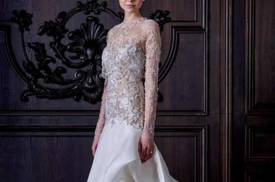 Vestidos de novia 2016 con pedrería: Hermosas creaciones que te harán brillar