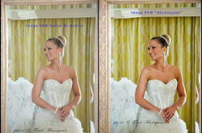 Une image RAW vous garantit que votre photographe de mariage est un pro