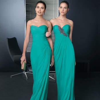 """Due modelli color verde acquamatina,senza spalline, con scollatura a scuore stile peplo   <a href=""""http://zankyou.9nl.de/vve6"""" target=""""_blank"""">Scopri la nuova collezione di Rosa Clarà 2015</a>"""