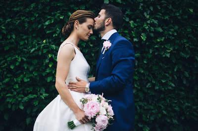 Una deslumbrante novia de Rosa Clará: la boda de Diego y Sara