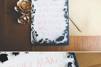 Real Wedding: Una boda para los más geeks inspirada en Mario Bros