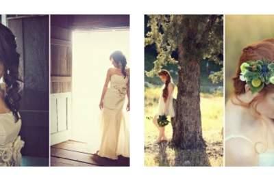 Semi raccolti semplici. Foto:  sloan photographers per real wedding courtney noahs ranch wedding httpgreenweddingshoes.com e Lukas vanDyke photography per httpgreenweddingshoes.coman-irish-love-shoot