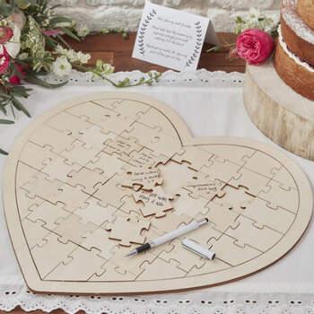 Libro de firmas corazón puzzle- Compra en The Wedding Shop