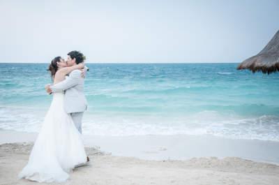 Natalia y Humberto: ¡una boda en la playa!