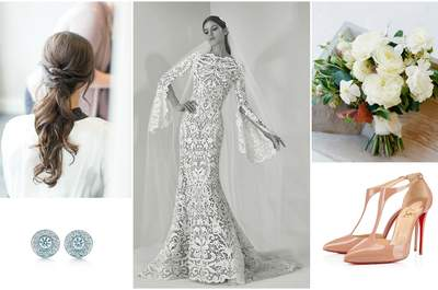 Look de la semana: novia de guipur