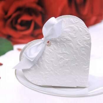 Boîte Cœur Blanc 10 Pièces -  The Wedding Shop !