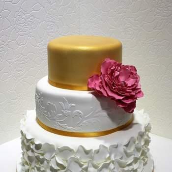Inspiração para bolos de casamento de 3 andares | Créditos: My Fancy Cake