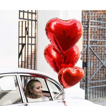 Foto: Globo corazón rojo